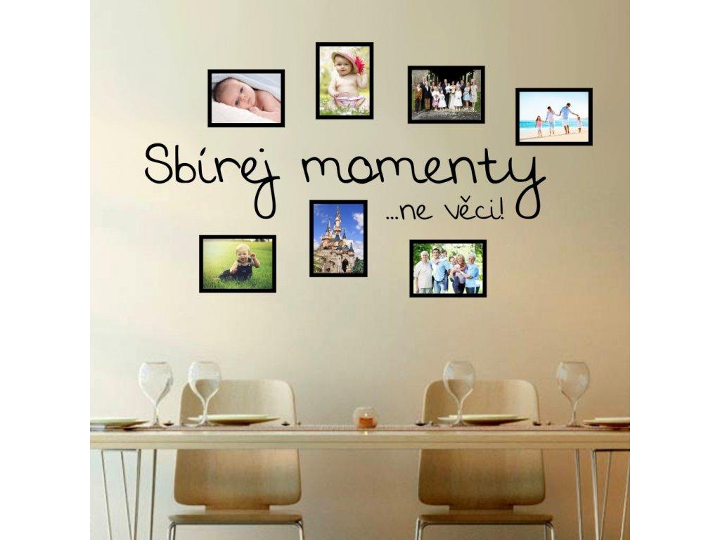Samolepky na zeď - Sbírka momentů a fotorámečky