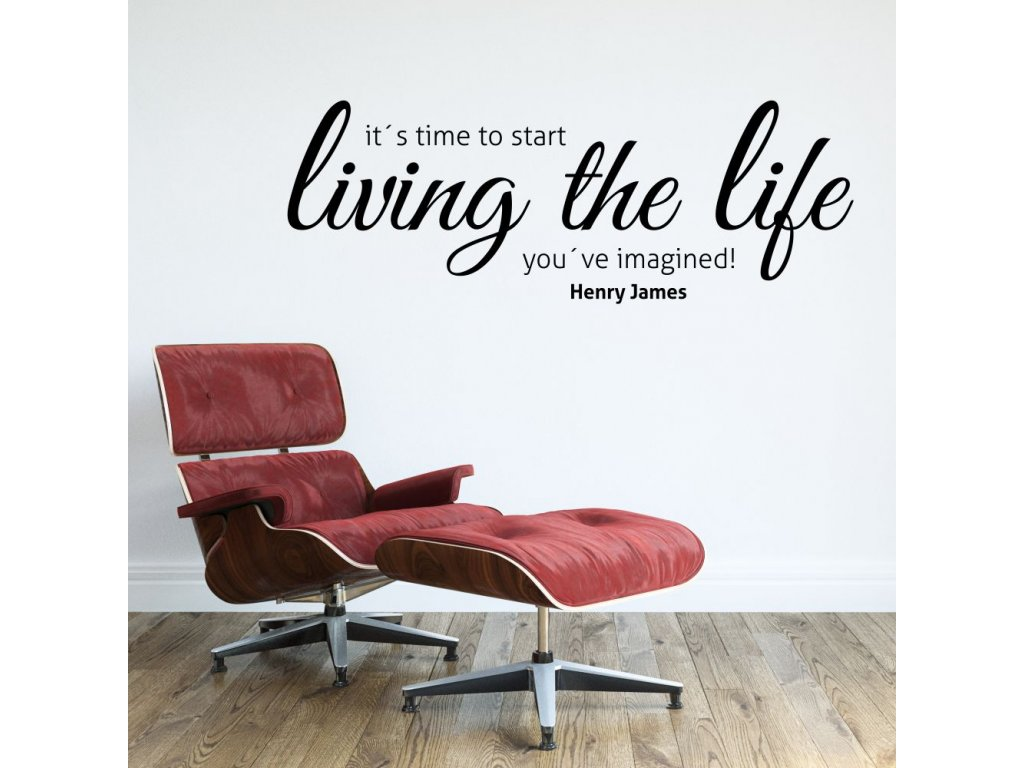 Samolepky na zeď - Living the life