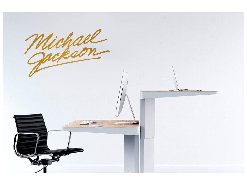 Výprodej - Michael Jackson podpis 80x39 ZLATÁ
