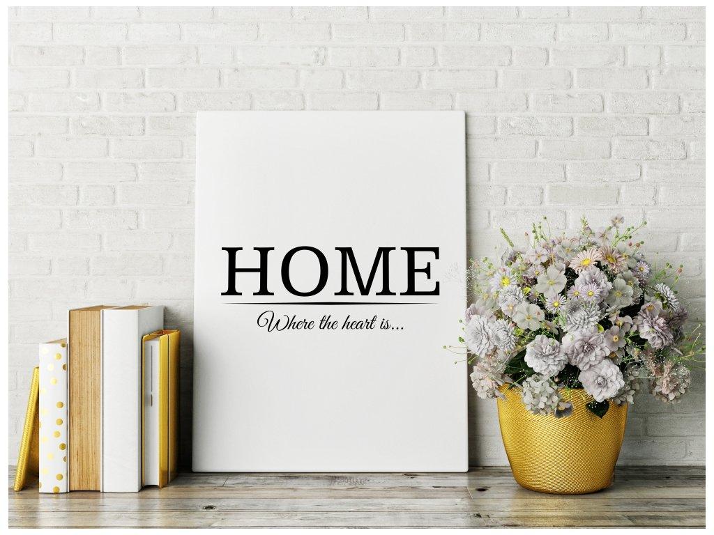 Obraz na plátně na zeď - rodinný nápis Home