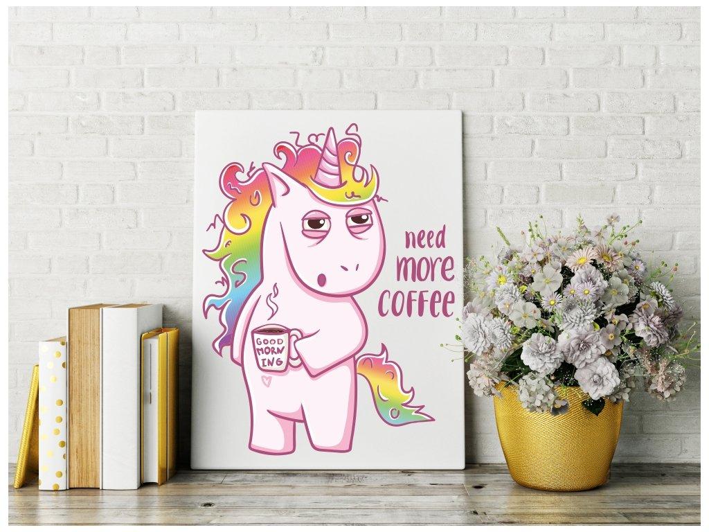 Obraz na plátně na zeď - Unicorn Coffee