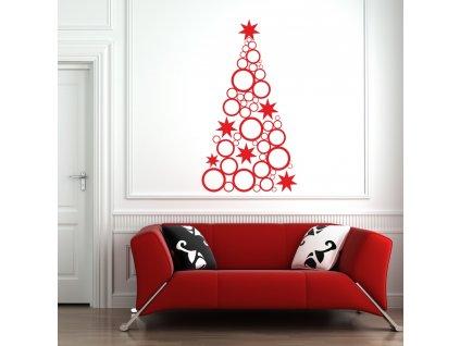 Samolepky na zeď - Vánoční strom modern