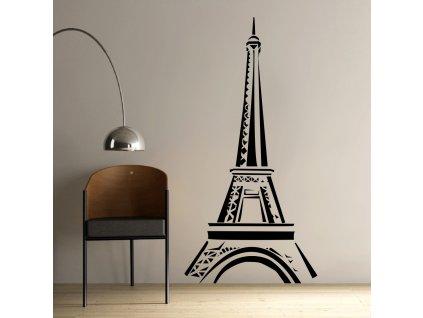 Samolepky na zeď - Eiffelova věž skica