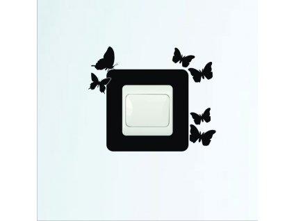 Samolepky na zeď - Vypínač motýli