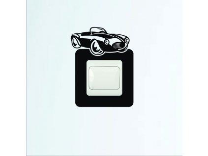 Samolepky na zeď - Vypínač autíčko