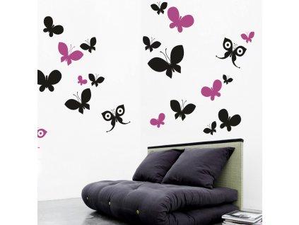 Samolepky na zeď - Motýlí ráj 2012