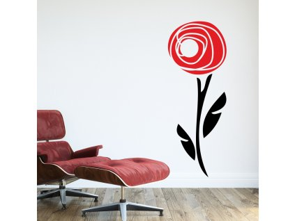 Samolepky na zeď - Abstract rose