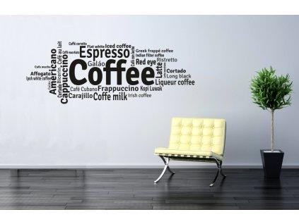 Samolepky na zeď - Coffee and other