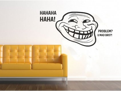 Samolepky na zeď - Meme Troll Face Haha