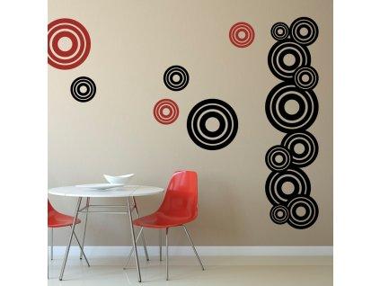 Samolepky na zeď - Circles set