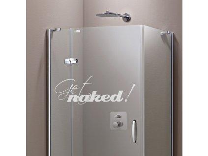 Samolepky na sklo a sprchové kouty - Get naked