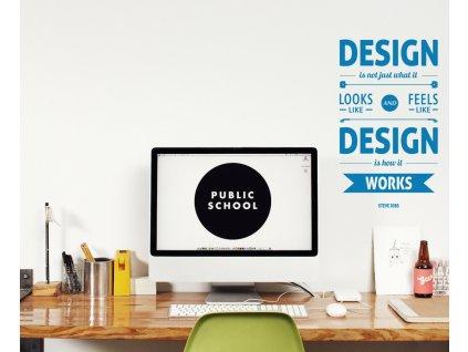 Samolepky na zeď - Design by Steve Jobs