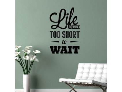 Samolepky na zeď - Life is short