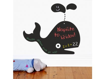 Samolepky na zeď - Velryba nalepovací tabule