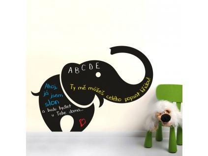 Samolepky na zeď - Slon nalepovací tabule