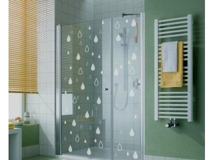 Samolepky na sklo a sprchové kouty - Kapky