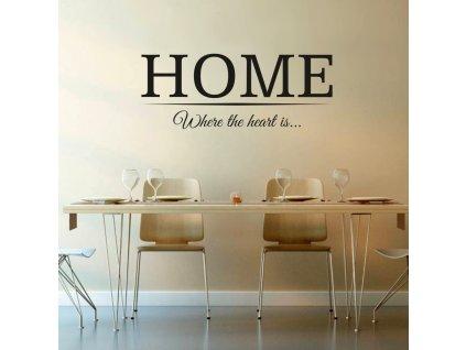 Výprodej - Home, 75x30cm, ČERNÁ