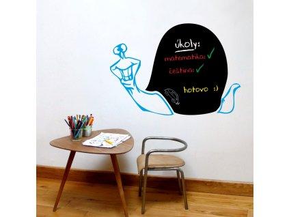 Samolepky na zeď - Šnek nalepovací tabule