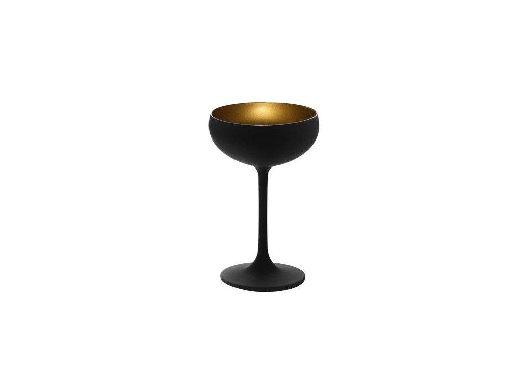Sektový čiernozlatý pohár Stolzle Olympic Glass Black/Gold 230ml