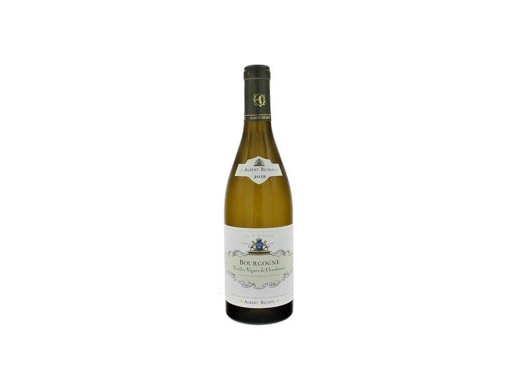 Albert Bichot Bourgogne Chardonnay Vieilles Vignes 2018 -Víno - odrodové - stredne plné víno s herb
