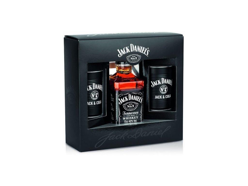 Jack Daniels + 2 plechové poháre GB 40%, 0,7l