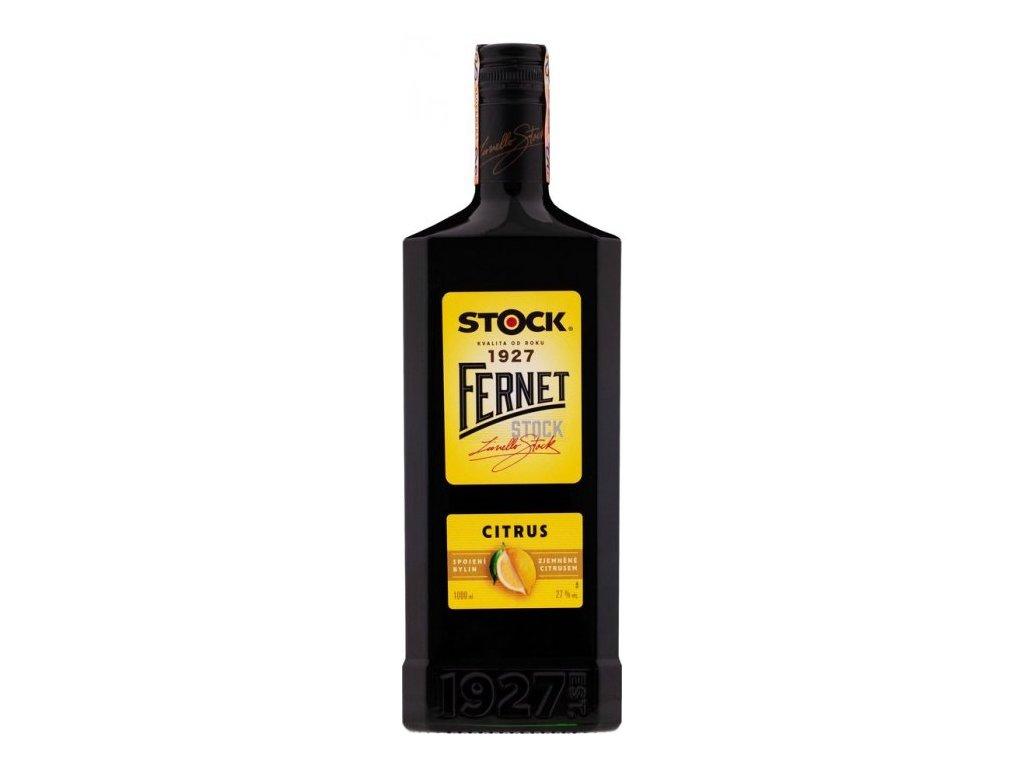 Fernet Stock Citrus 27%, 1l/nový obal/