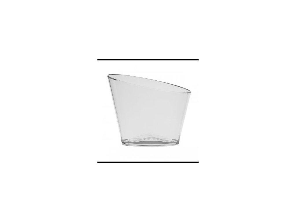 Bottle Cooler oval Transparent Acryl 295mm - akrylová chladiaca nádoba oválna