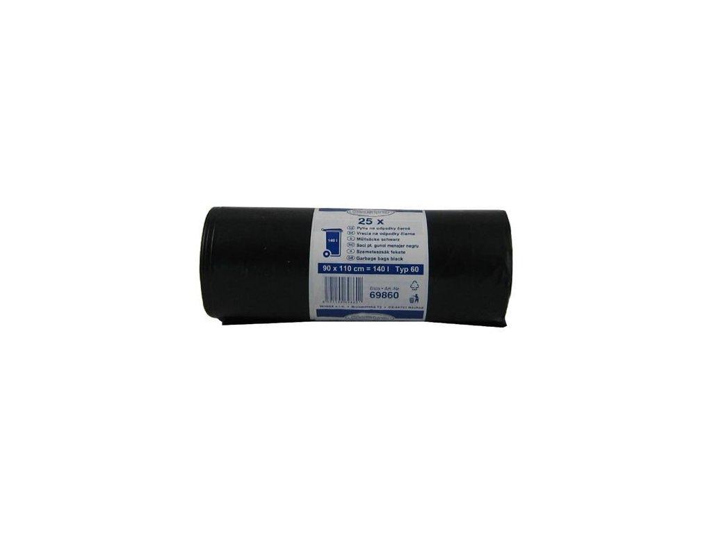 Odpadkové vrecia LD 90x110x0,04 čierne 25ks 140l