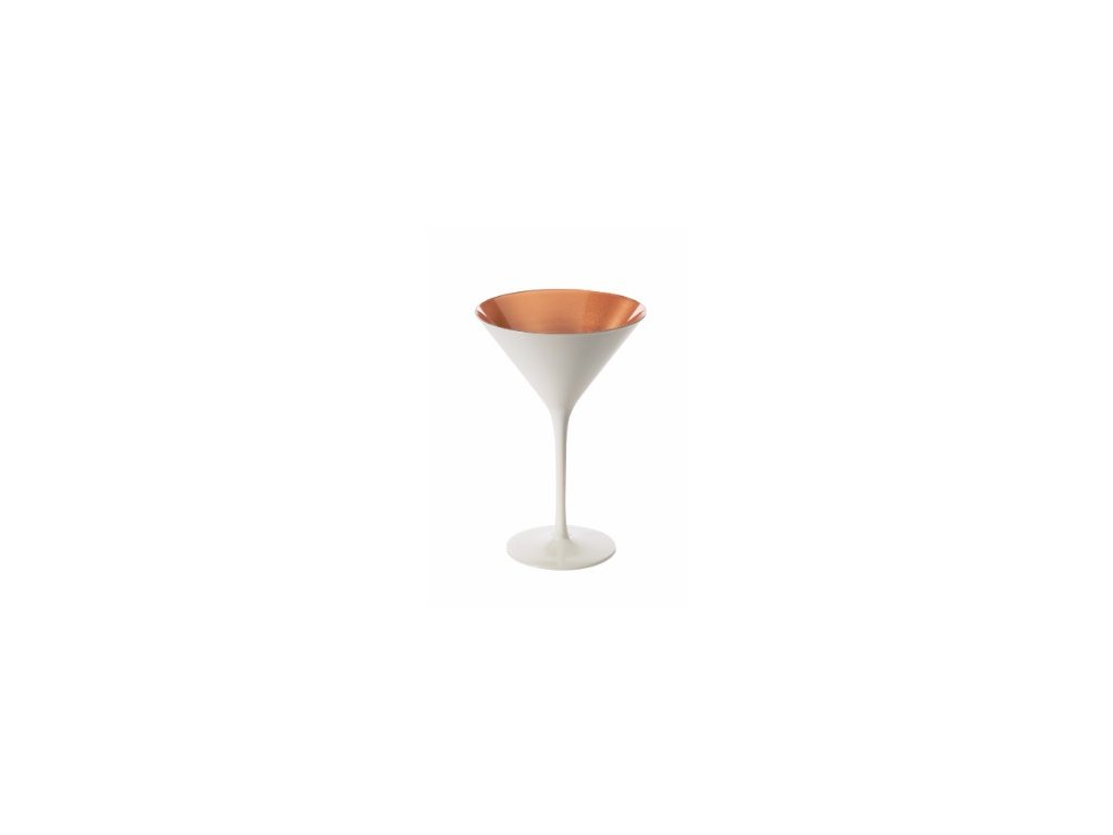Olympic Martini Glass Glossy Bronze White Outer 240ml x 8.5oz