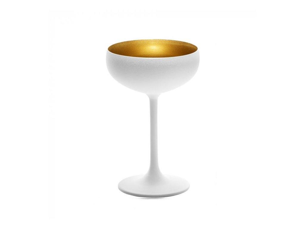 Stolzle Olympic Glass Gold/White 230ml- Sektový pohár bielozlatý