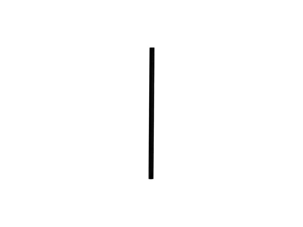 Slamky rovné 15cm 7mm čierne 500ks krátke