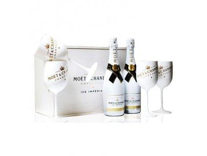 Moet & Chandon Ice Imperial Box 12% 2x0,75l+4poháre