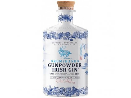 gin gunpowder irish ceramic bottle limited edition cl70