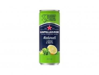 San Pellegrino Mäta - citrón 330ml plech