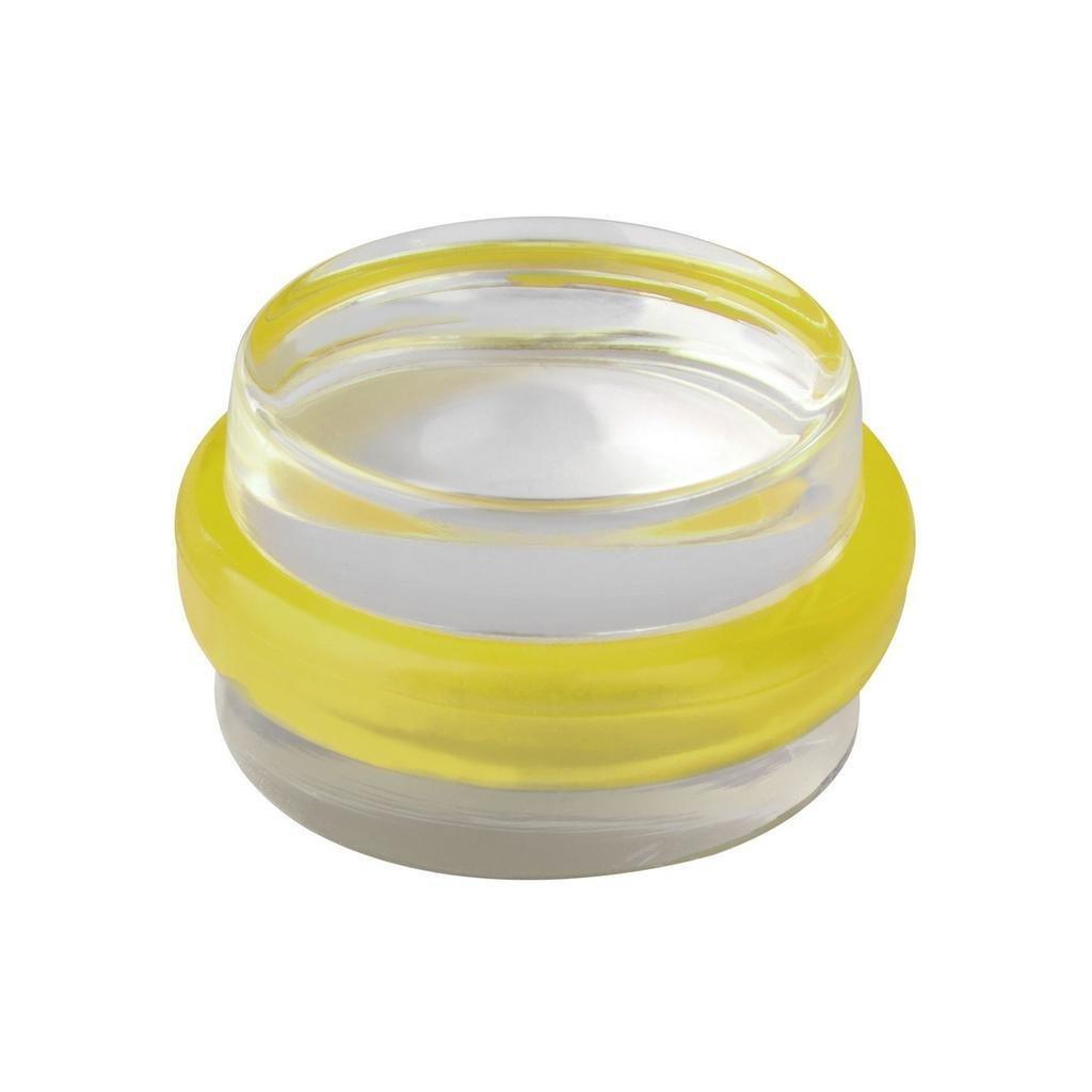 Dveřní zarážka Ø 38x21mm, transparentní, samolepící, žlutá