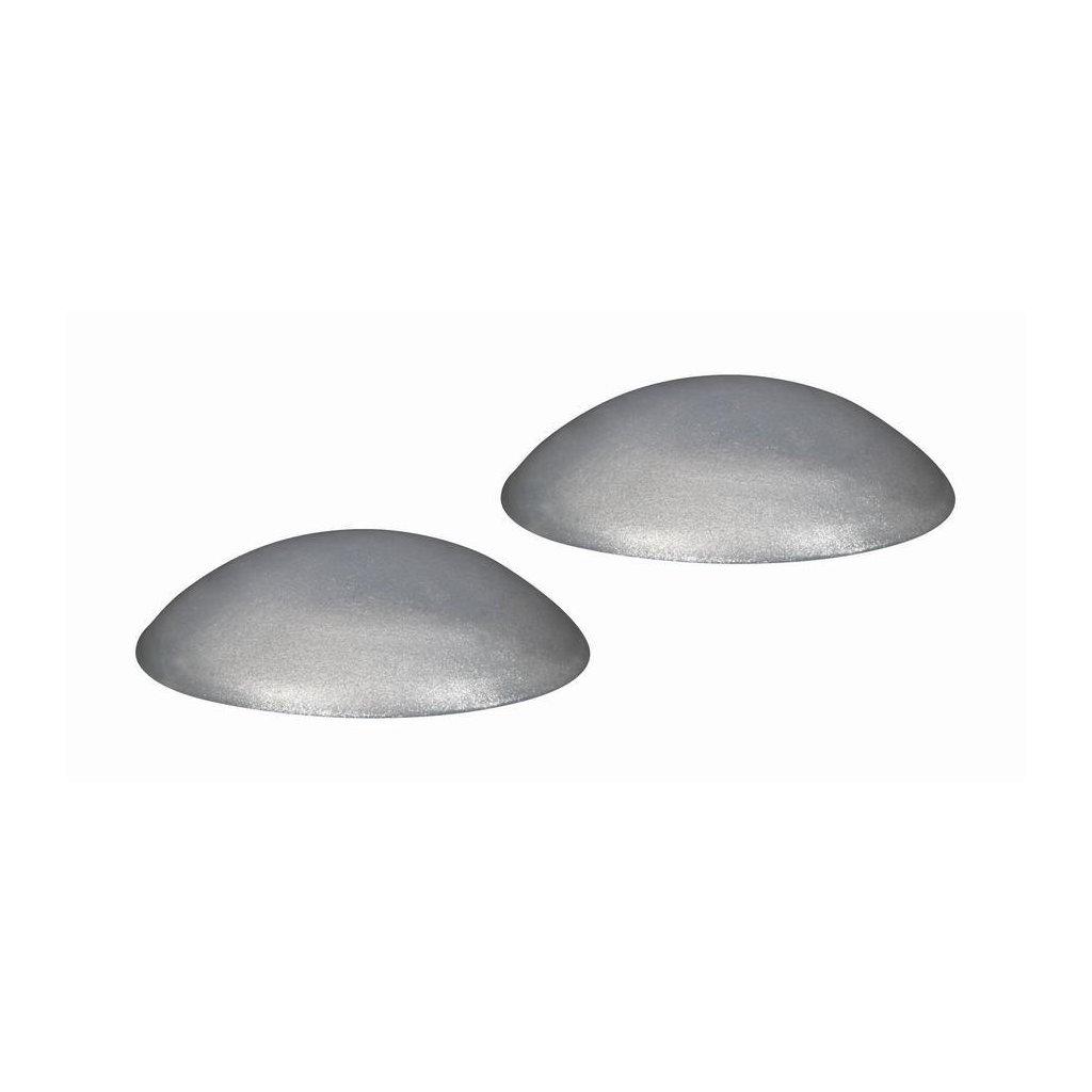 Dveřní zarážka, průměr 40mm, metalická stříbrná, 2 ks