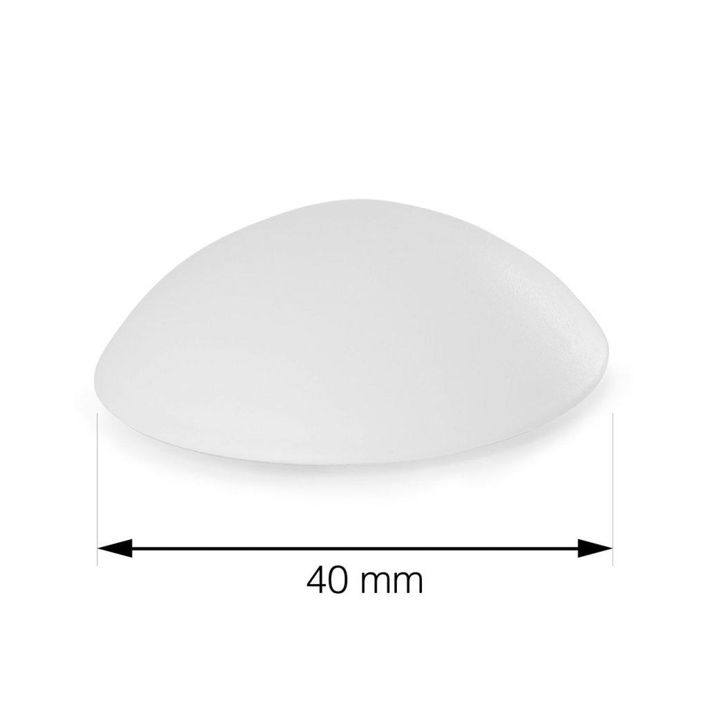 Dveřní zarážka Ø 40mm, bílá, 6 ks