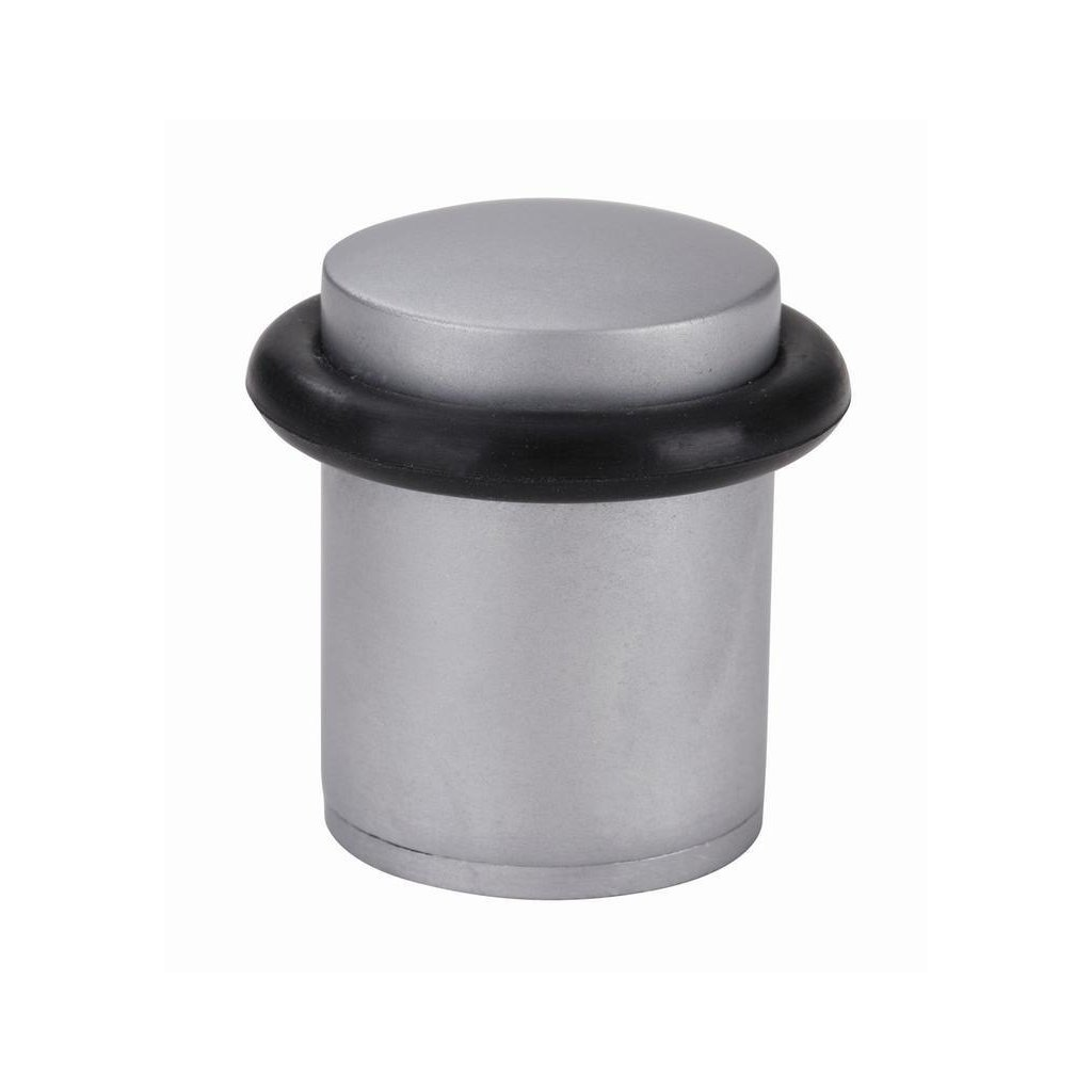 Dveřní zarážka Ø 25x38mm, matný chrom