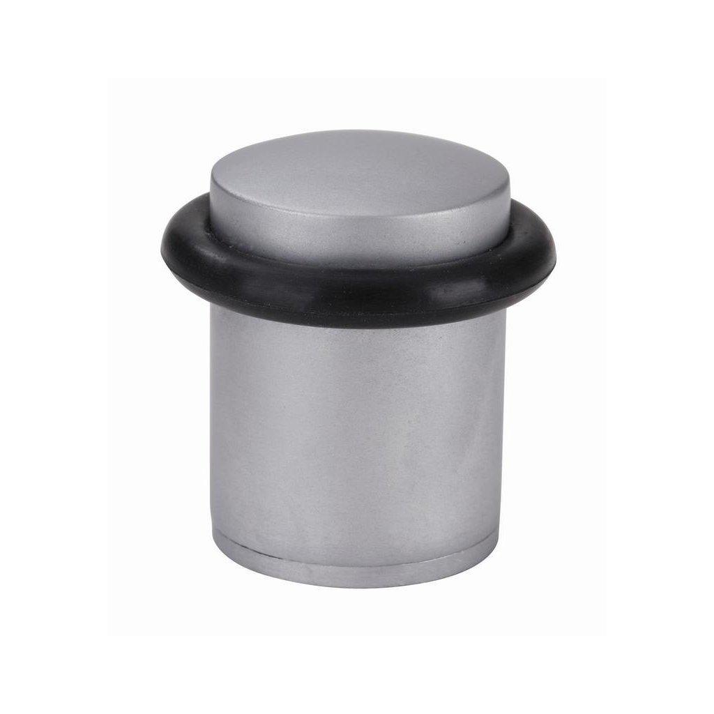 Dveřní zarážka, průměr 27x38mm, matný chrom