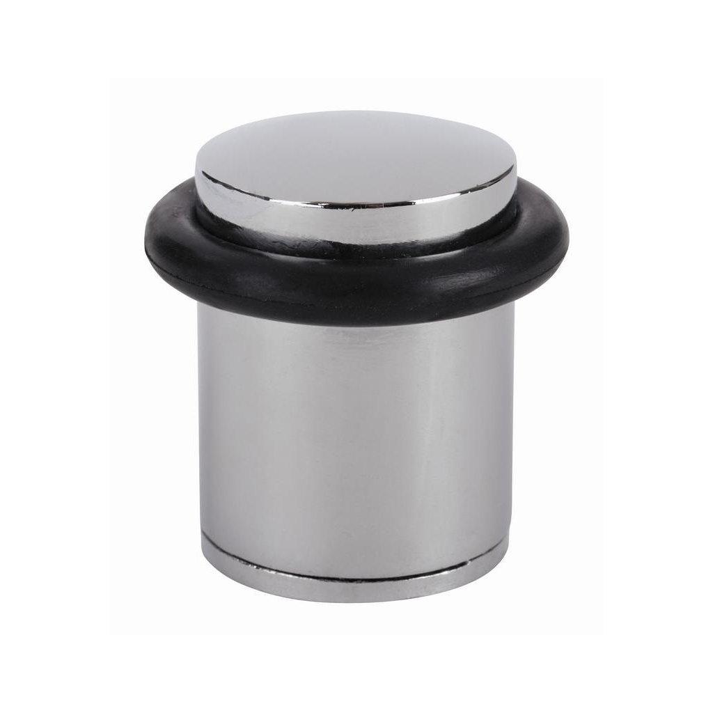 Dveřní zarážka, průměr 35x39mm, chrom