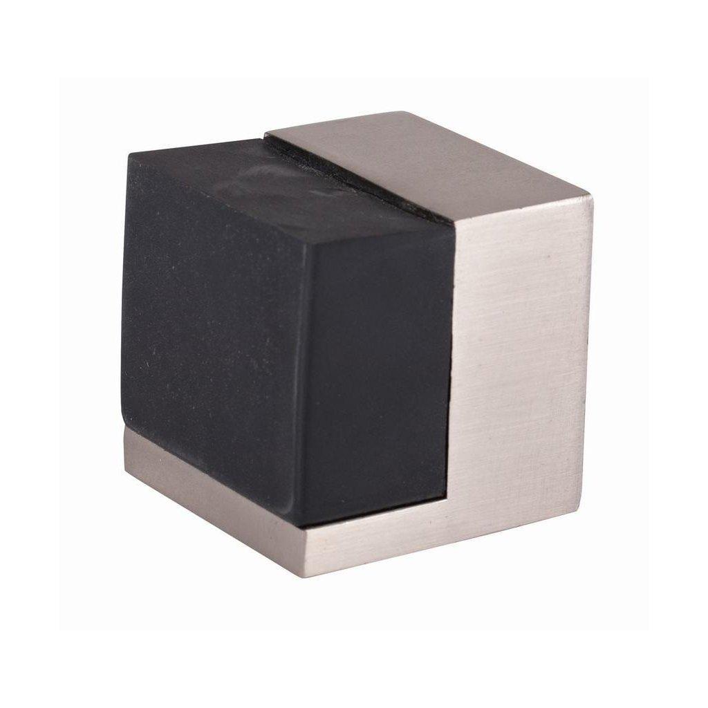 Dveřní zarážka 40x40mm, saténový nikl