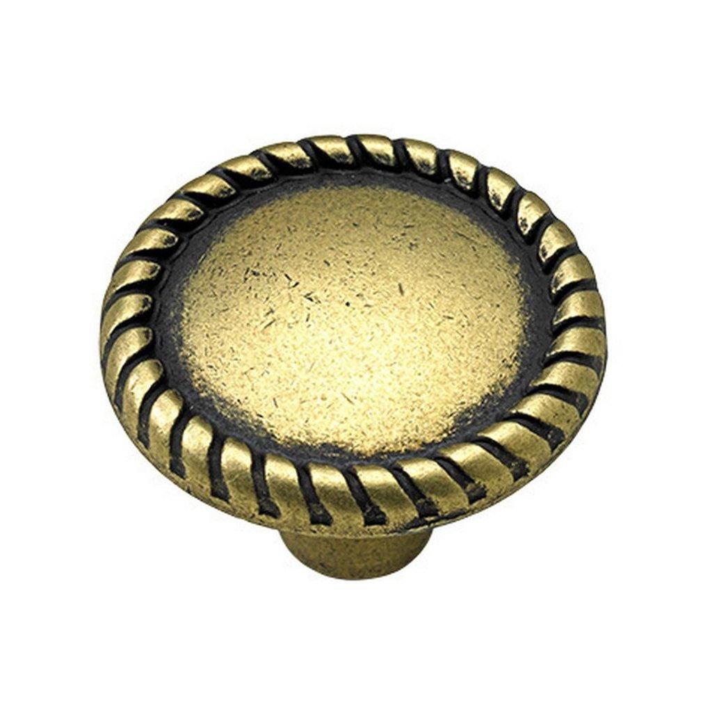 Nábytkový knopek Apasionado, průměr 26 mm, mosaz patina