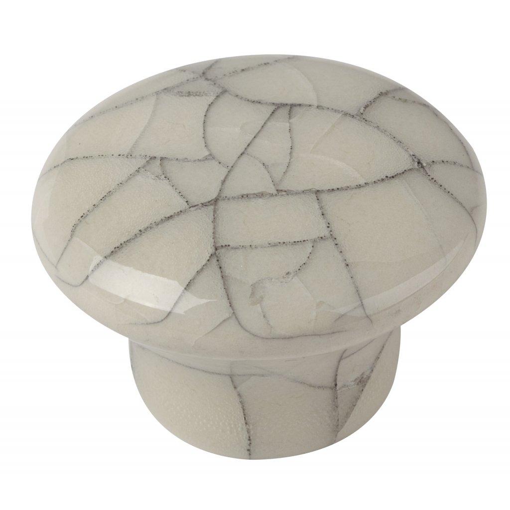 Nábytkový knopek Fragment, průměr 32mm, porcelán