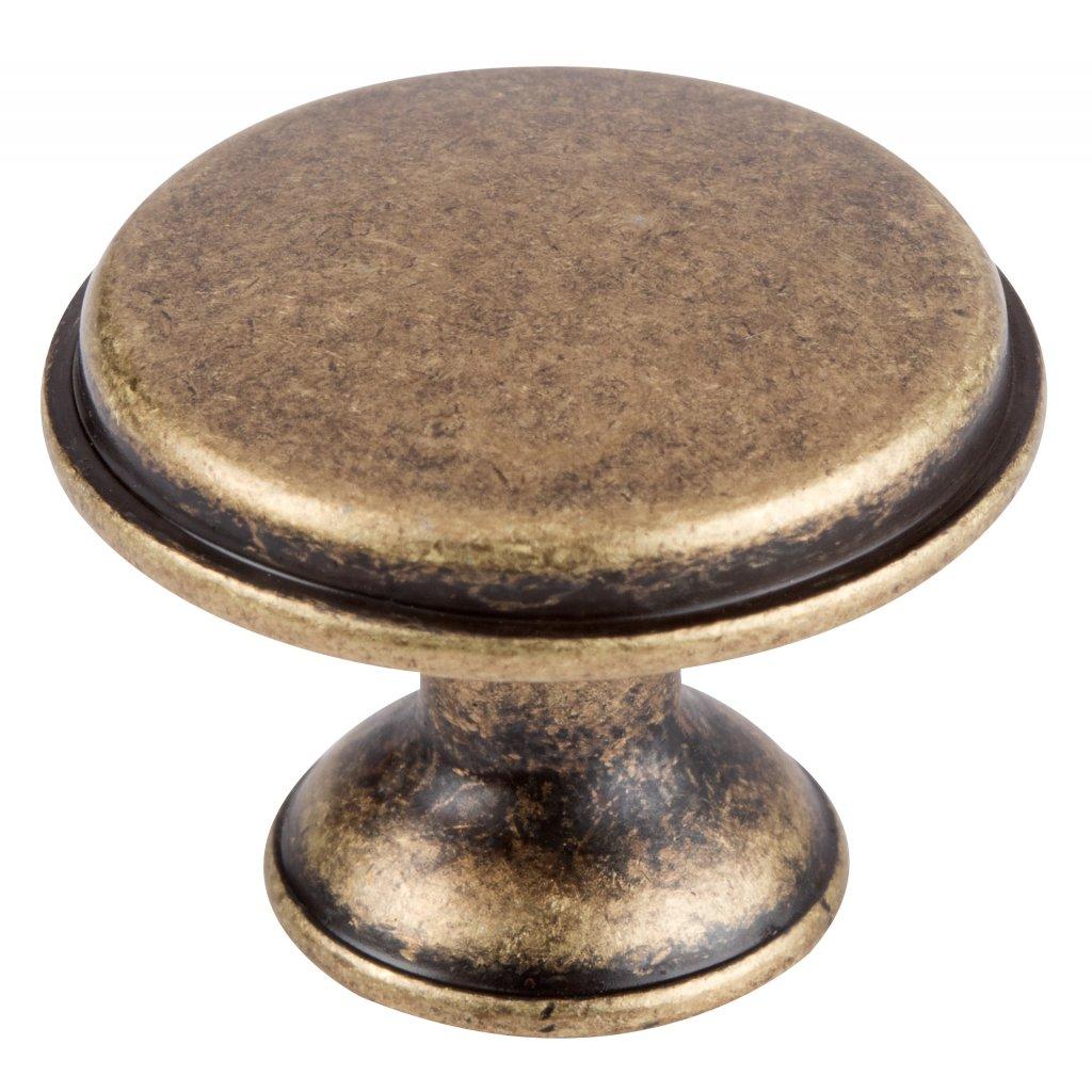Nábytková knopka Mala, průměr 28mm, mosaz antik