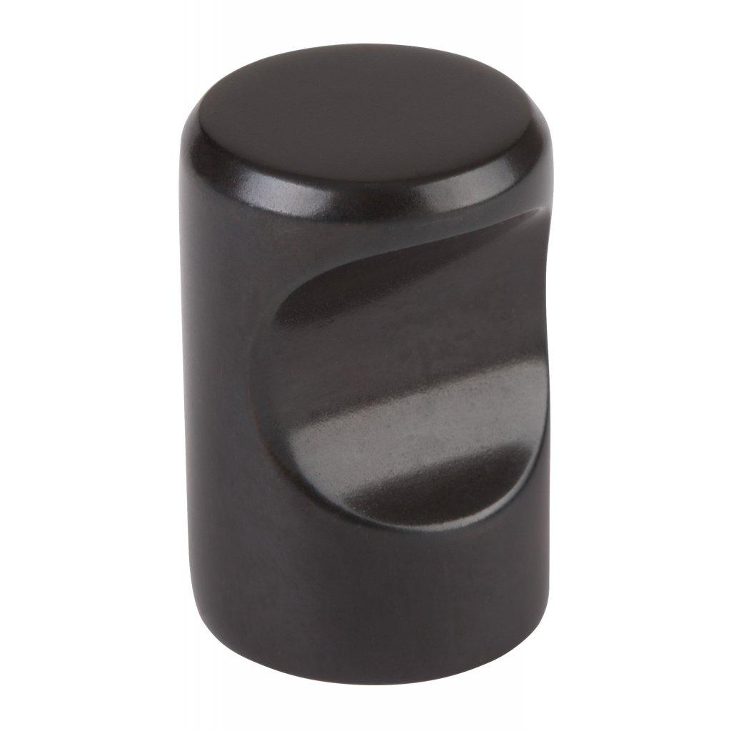 Nábytková knopka Venlo, průměr 15x22mm, černá barva