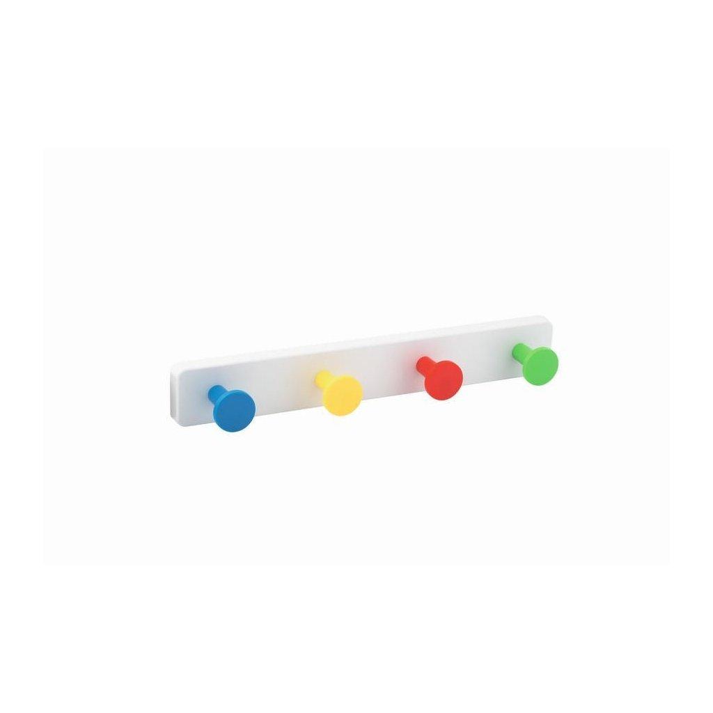 Věšáková lišta 410x60mm, plast, barevná