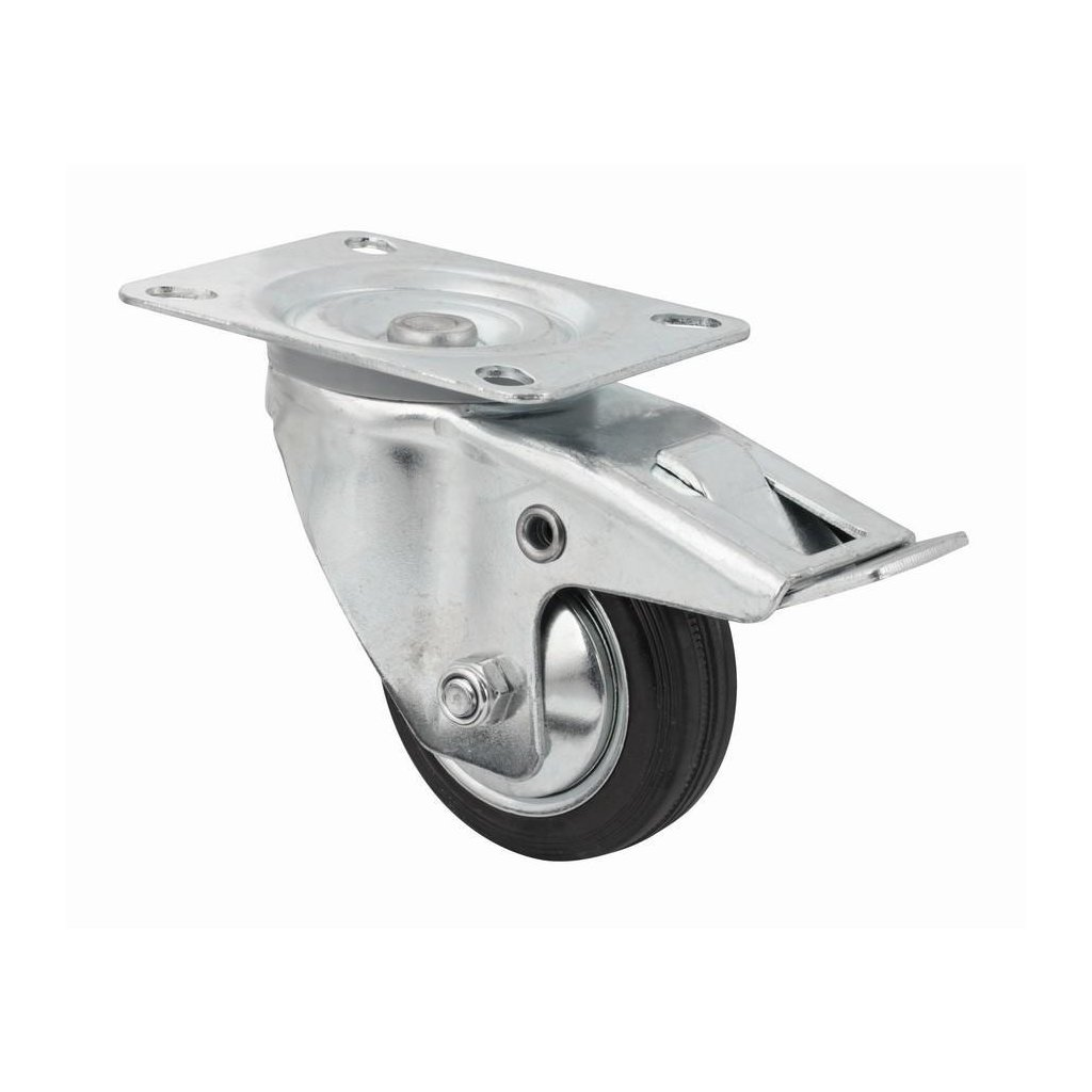 Transportní kolečko, otočné s brzdou, průměr  80 mm