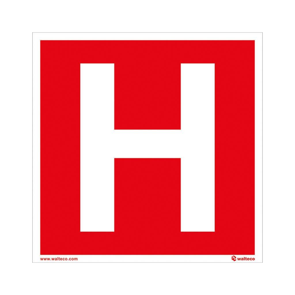 Hydrant H, 150x150mm, samolepka