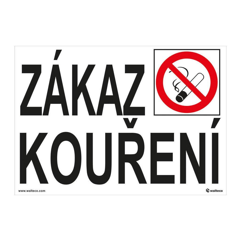 Zákaz kouření, 5 cm písmo 210x148mm, formát A5, samolepka