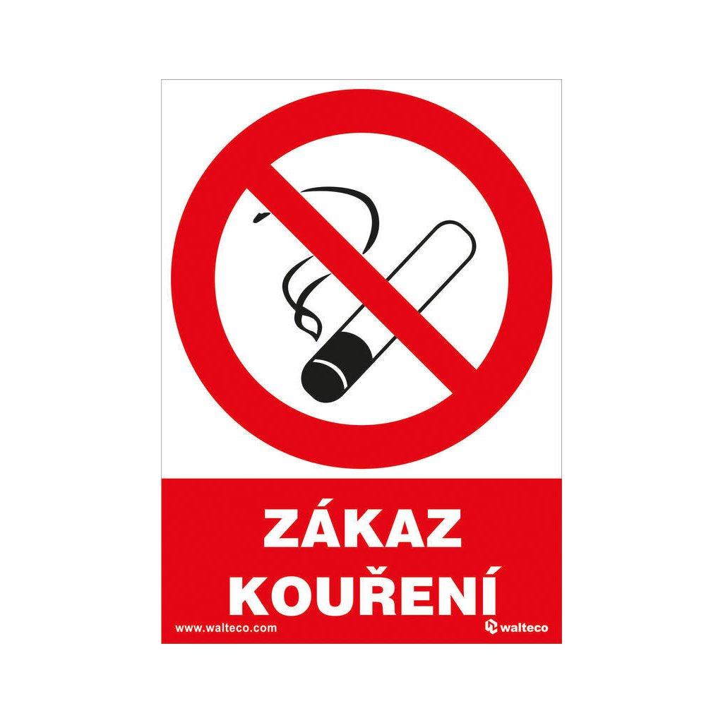 Zákaz kouření 105x148mm, formát A6, samolepka